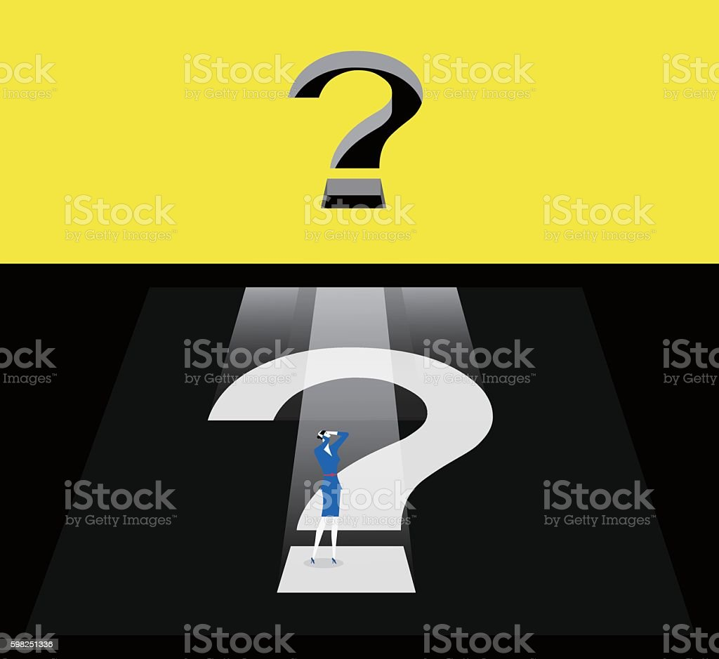Question box vector art illustration