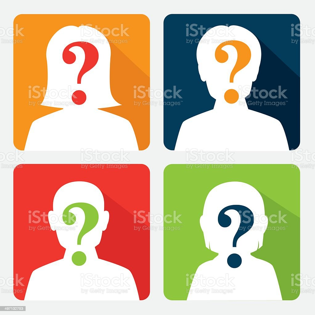 question design vector art illustration
