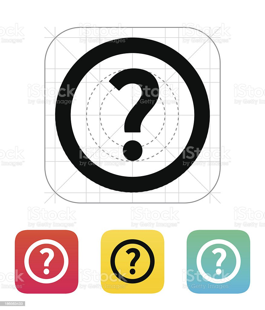Question icon. royalty-free stock vector art