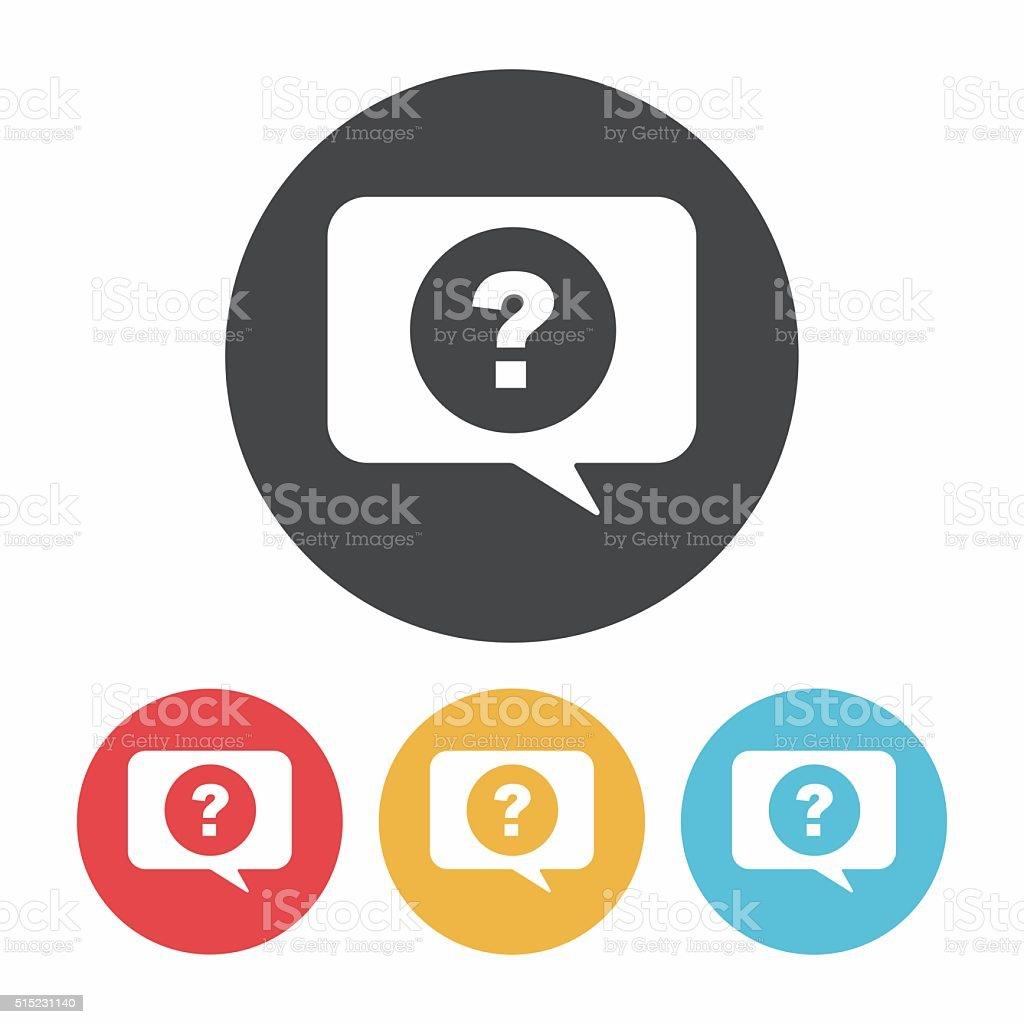 question icon vector art illustration