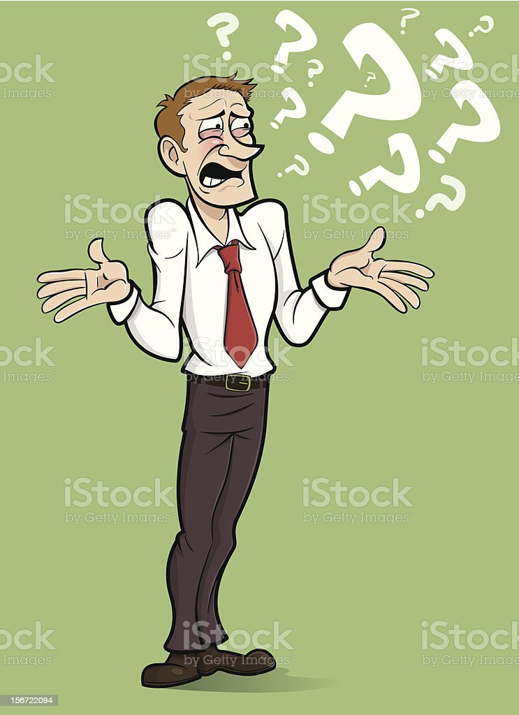 Question Man royalty-free stock vector art