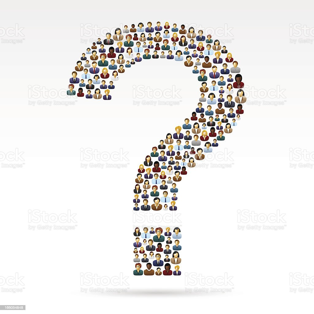 Question mark business people royalty-free stock vector art
