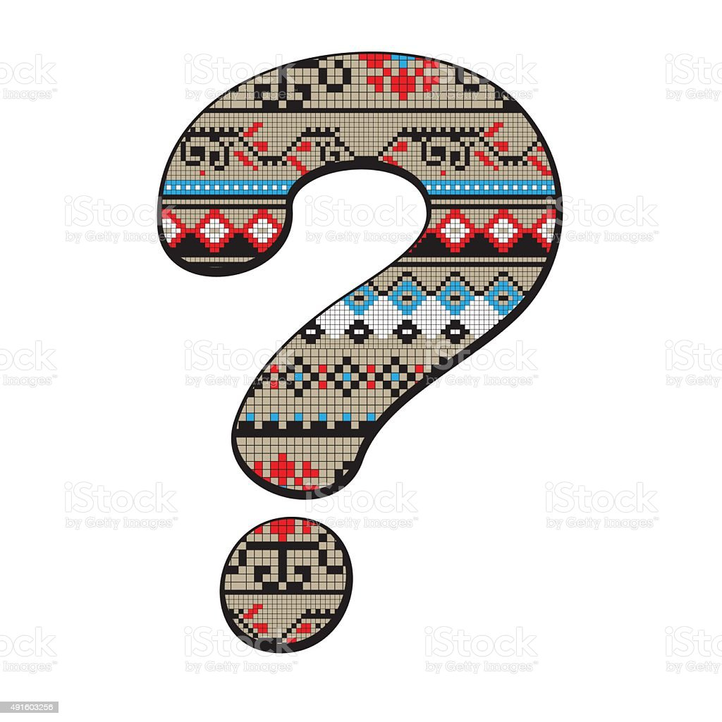 Question mark decorated vector art illustration