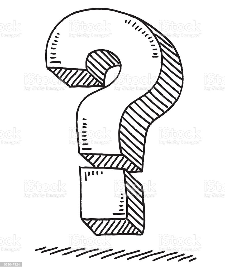Question Mark Drawing vector art illustration