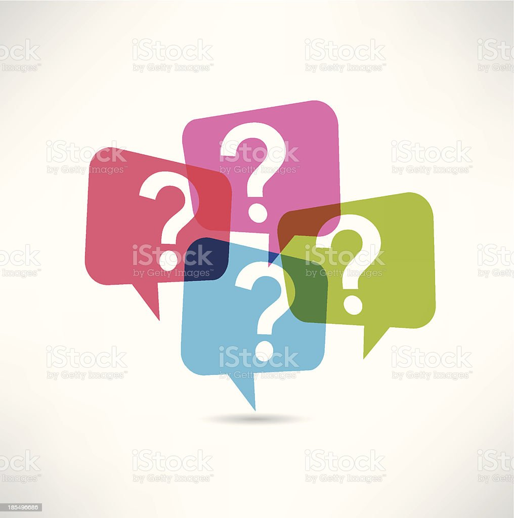 question mark icon vector art illustration