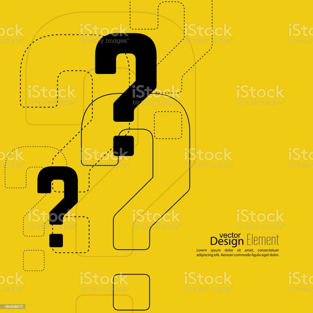 Question mark icon vector art illustration