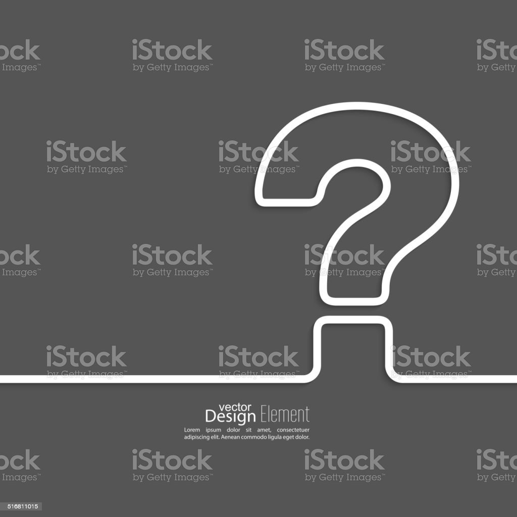 Question mark icon. vector art illustration