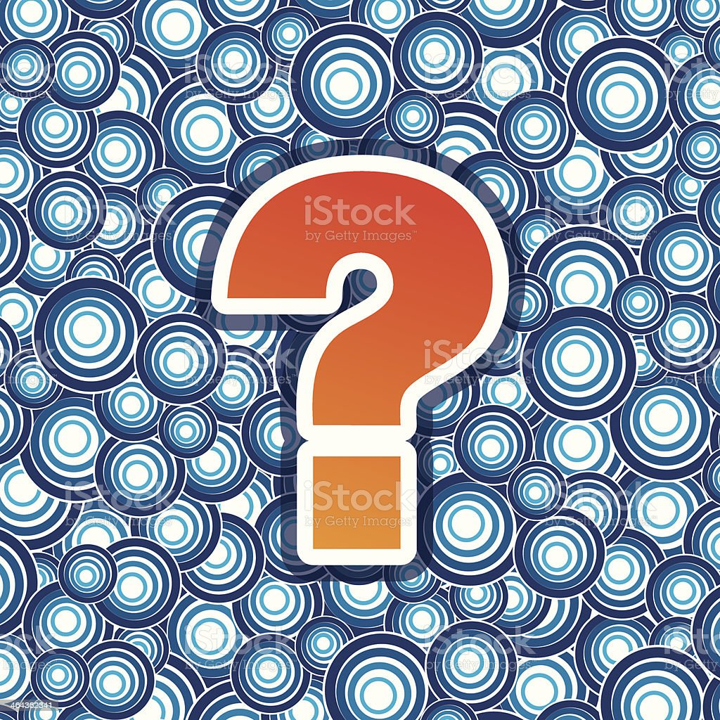question mark on blue background royalty-free stock vector art