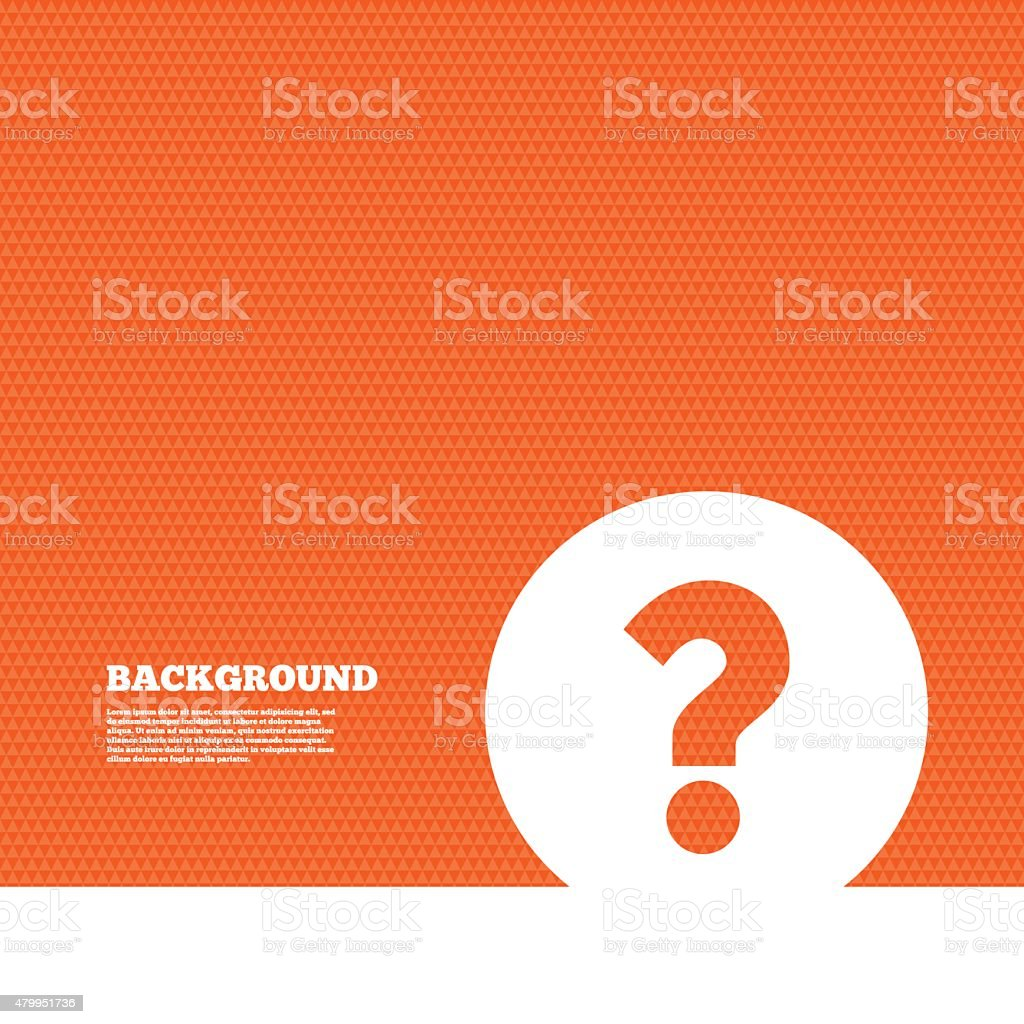 Question mark sign icon. Help symbol vector art illustration