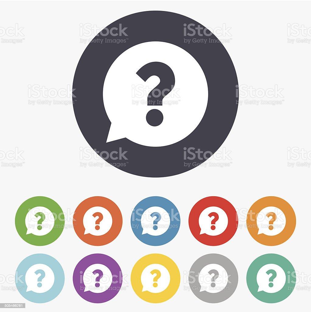 Question mark sign icon. Help symbol. vector art illustration