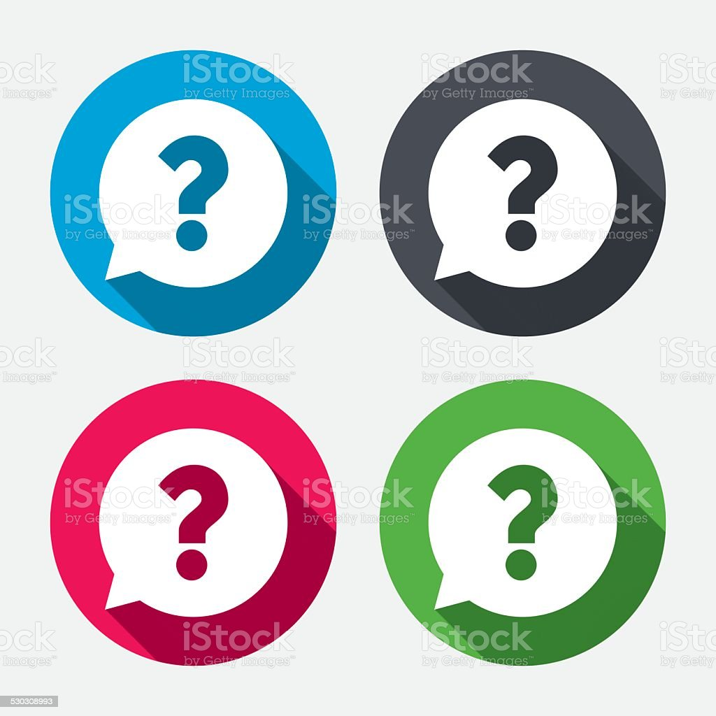 Question mark sign icon. Help symbol. vector art illustration