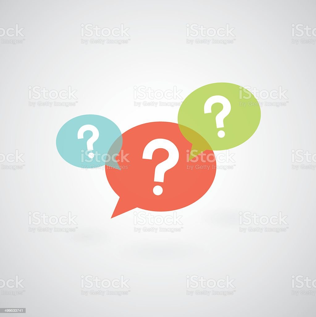 question mark symbol vector art illustration