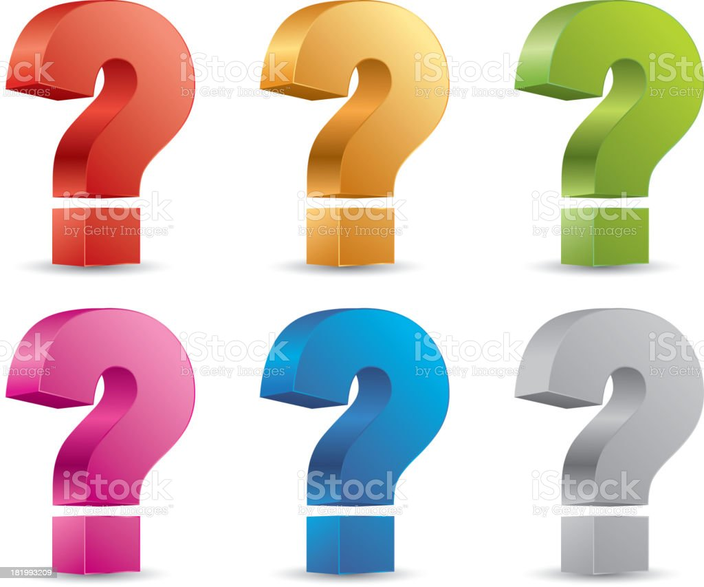 Question mark royalty-free stock vector art