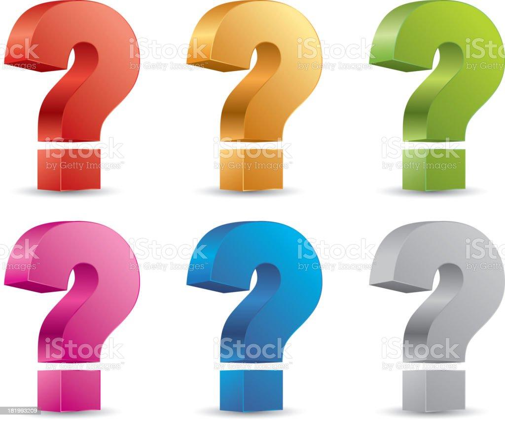 Question mark vector art illustration