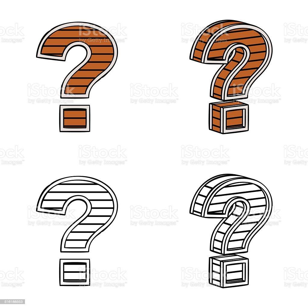 Блок с знаком вопроса