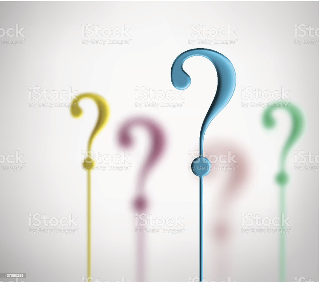 Question marks vector art illustration