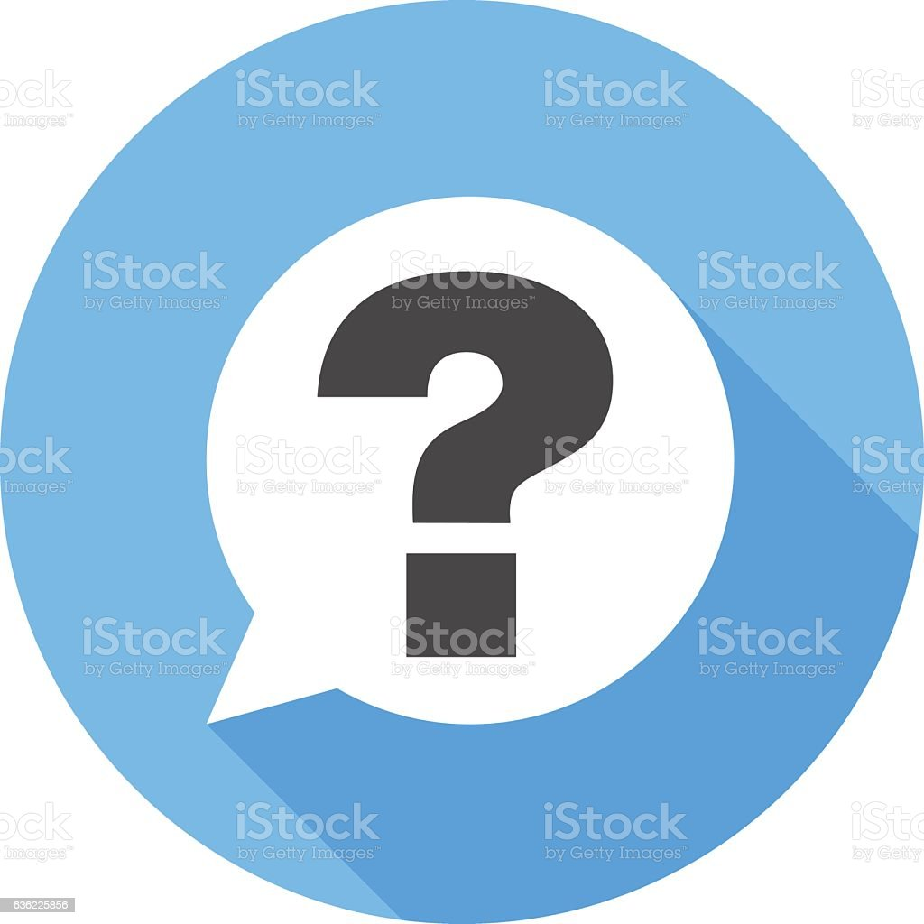 Question sign icon. Flat Design vector icon vector art illustration