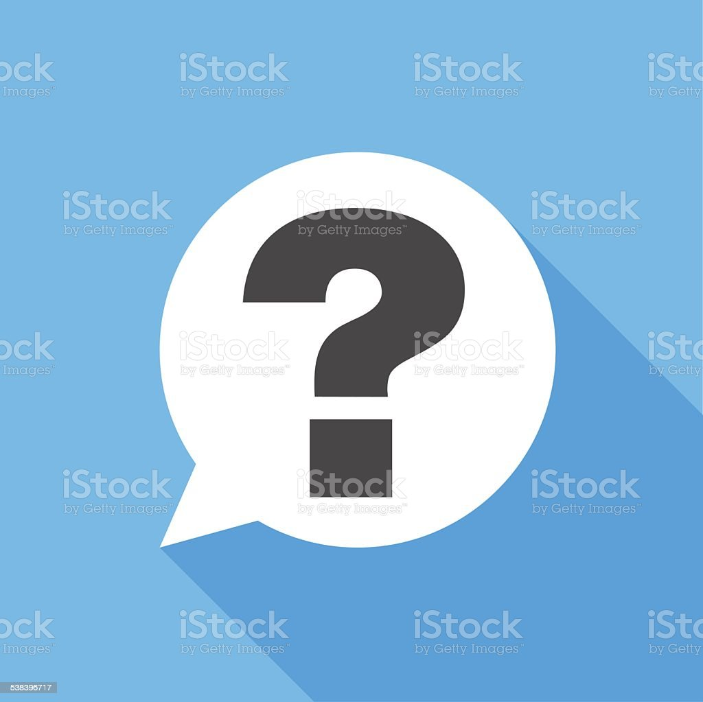 Question sign icon vector art illustration