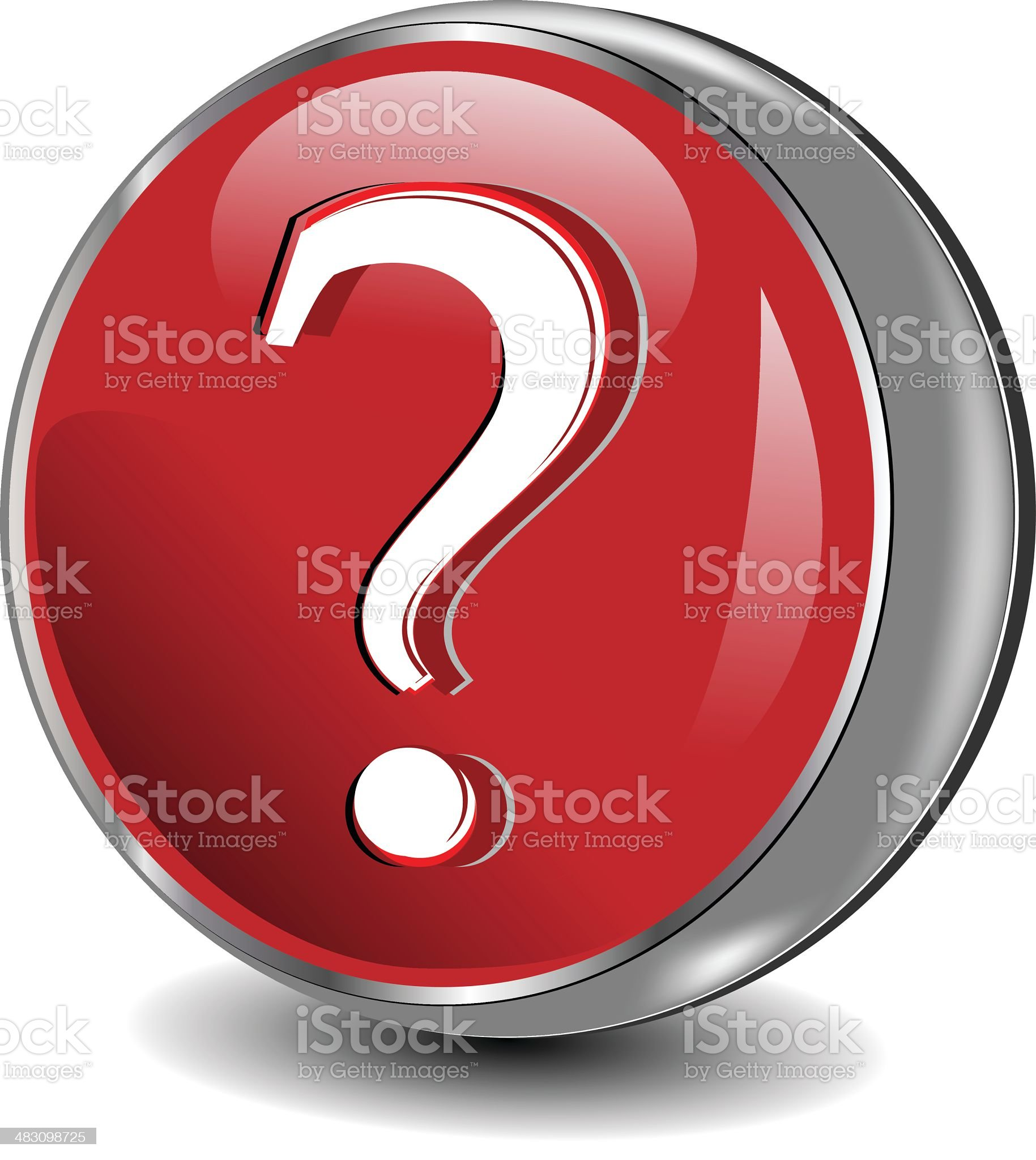 Question Sphere Icon   Vector Button royalty-free stock vector art
