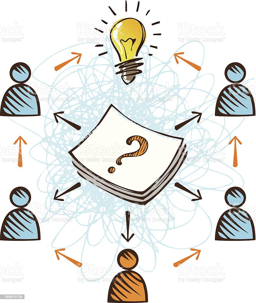 Question Team Idea royalty-free stock vector art