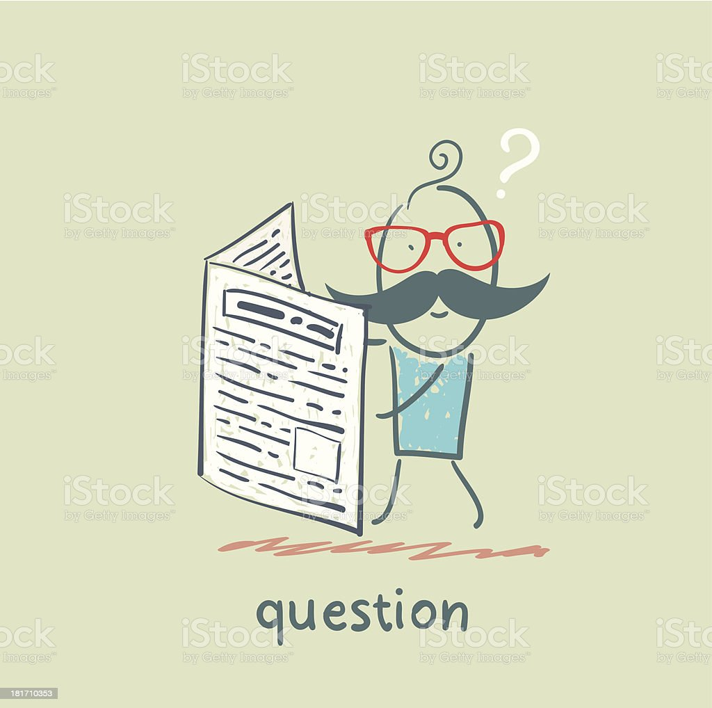 question royalty-free stock vector art