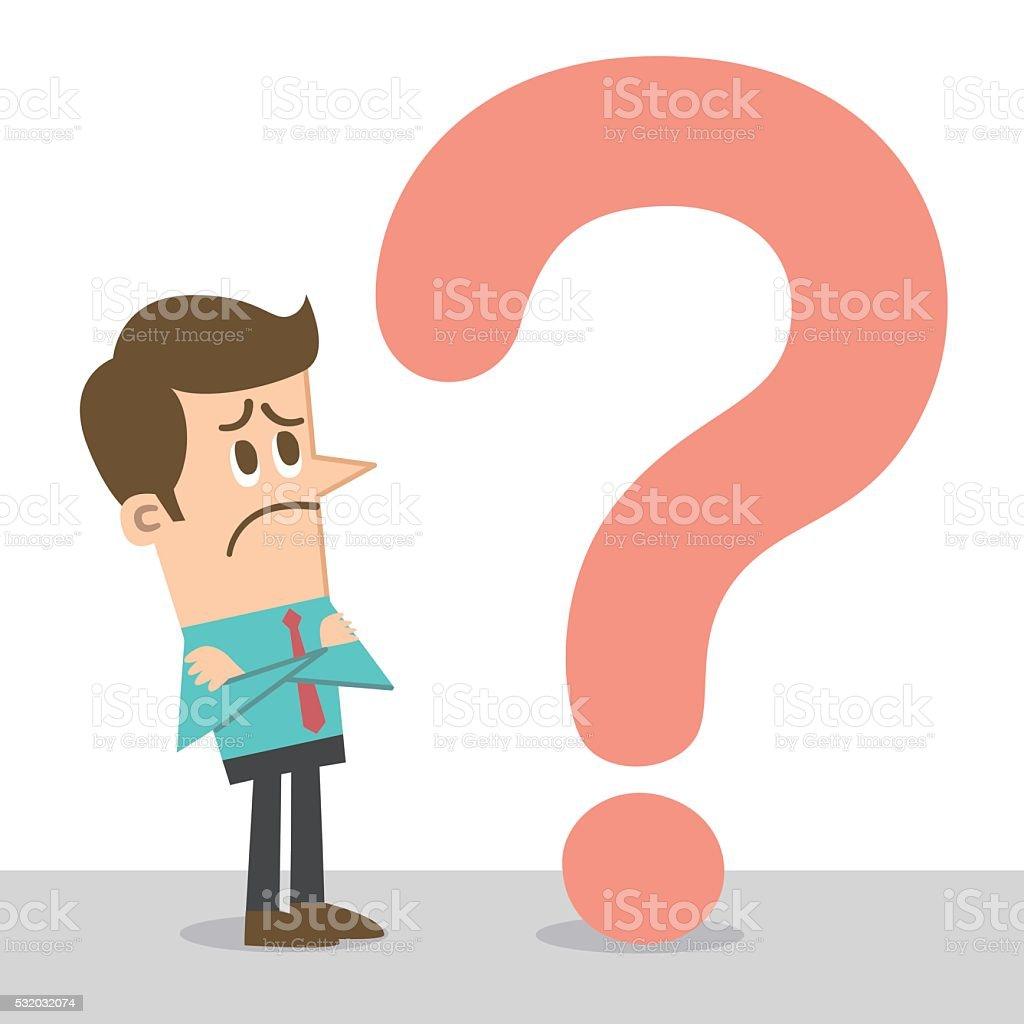 Question vector art illustration