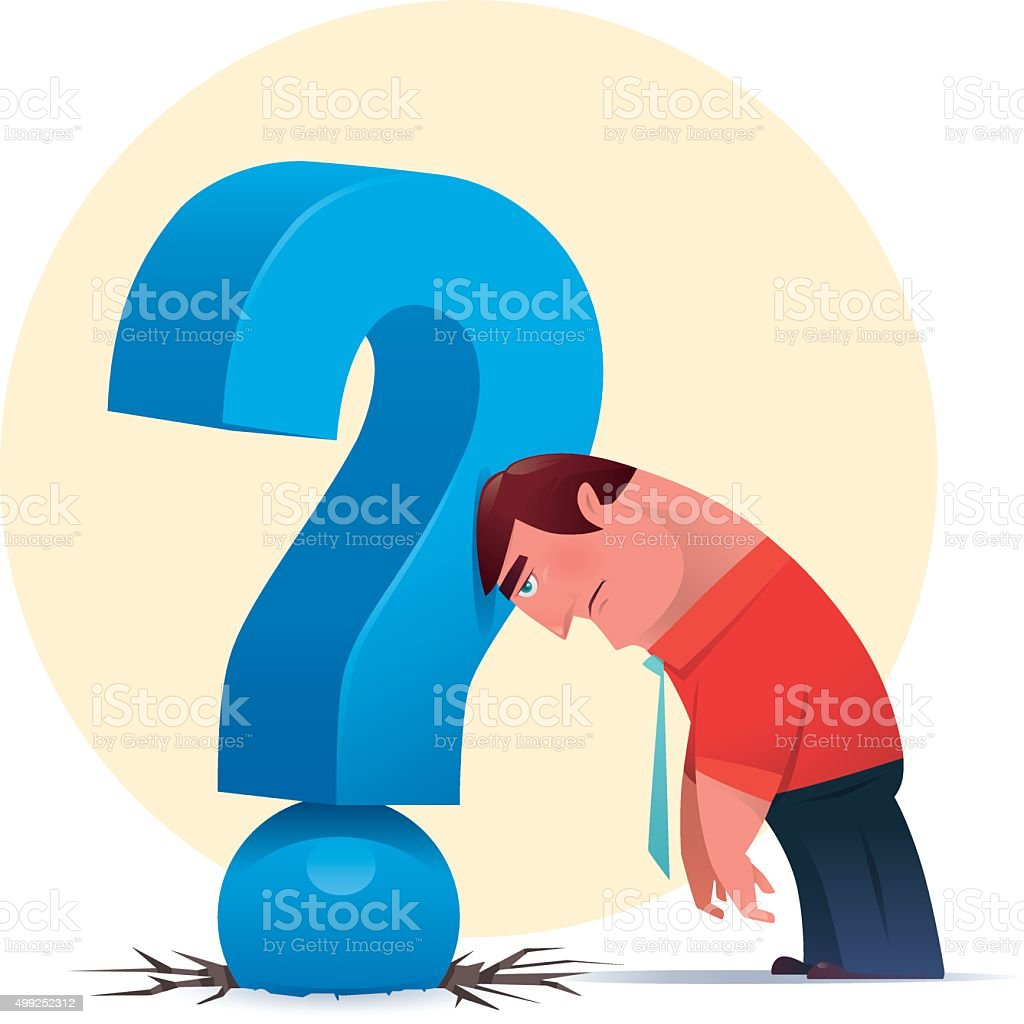 questioning vector art illustration