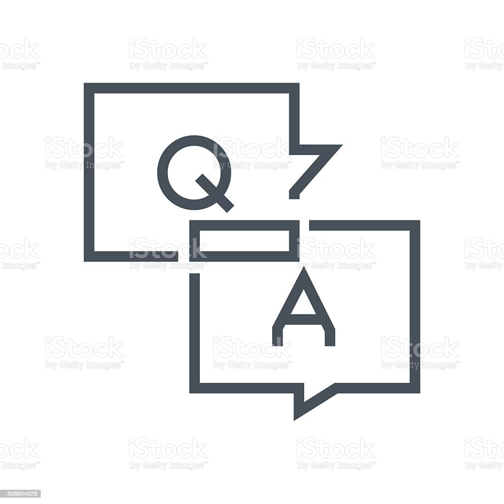 Questions and answers icon vector art illustration