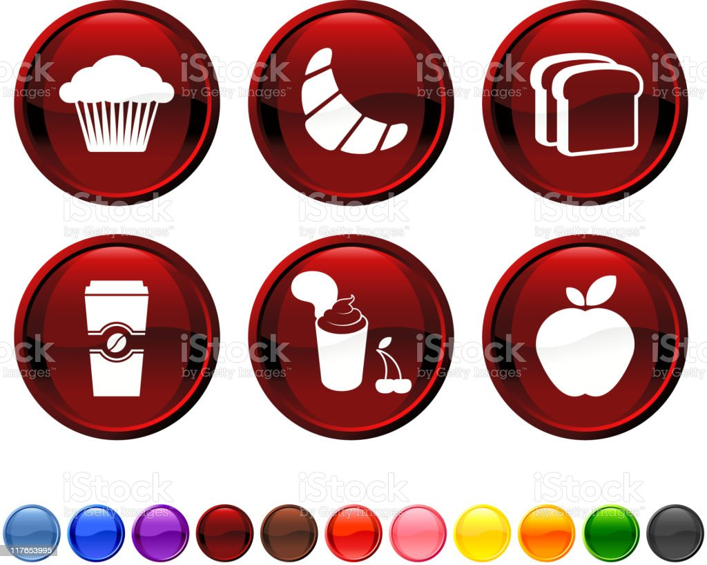 quick breakfast royalty free vector icon set royalty-free stock vector art