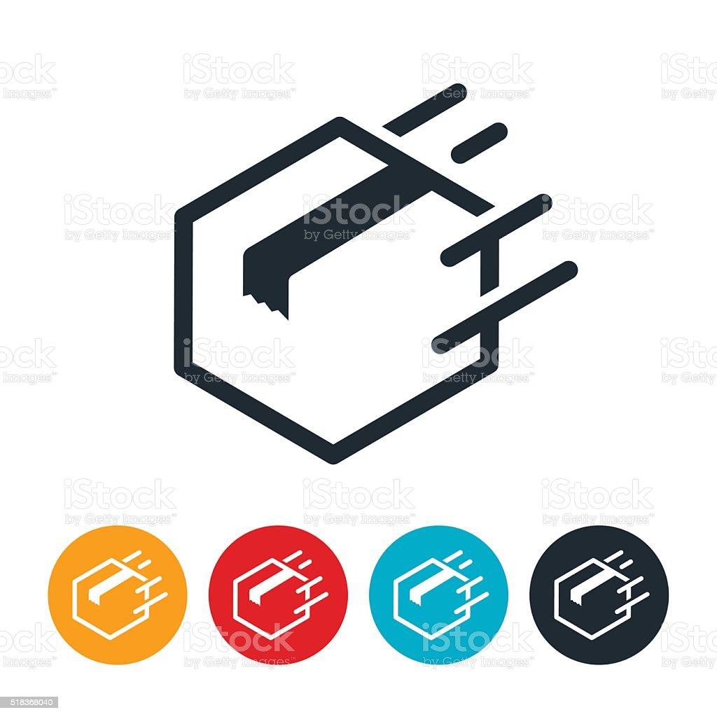 Quick Delivery Icon vector art illustration
