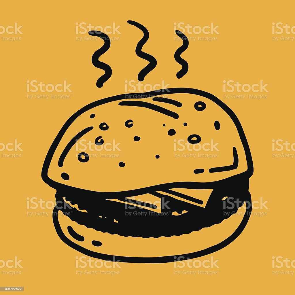 Quick-sketch Burger Icon royalty-free stock vector art