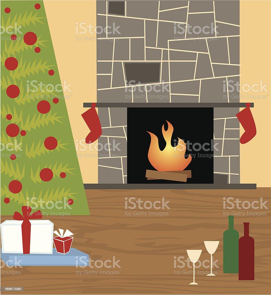 Quiet Christmas vector art illustration