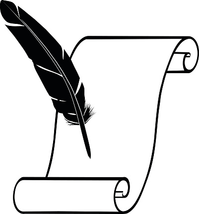 quill and parchment clipart - photo #16