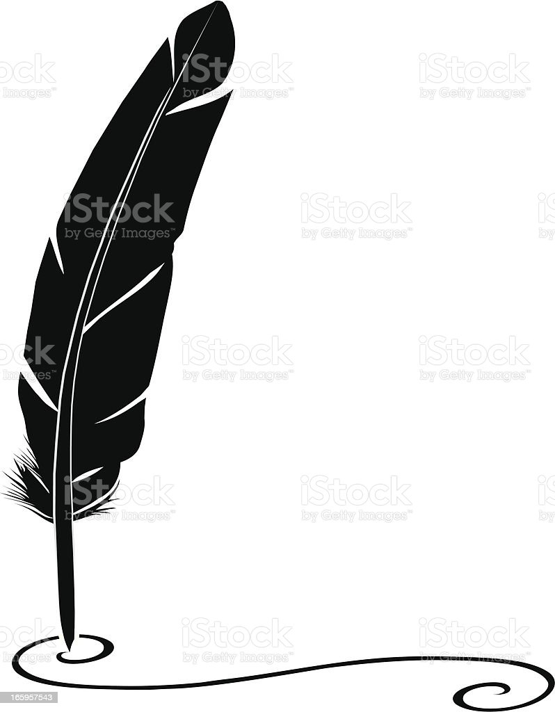 Quill Pen royalty-free stock vector art