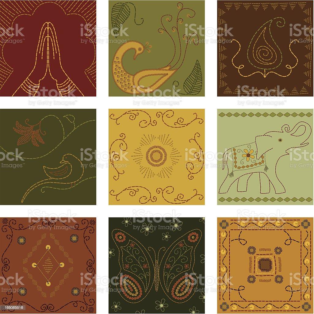 Quilt Squares (Vector) vector art illustration