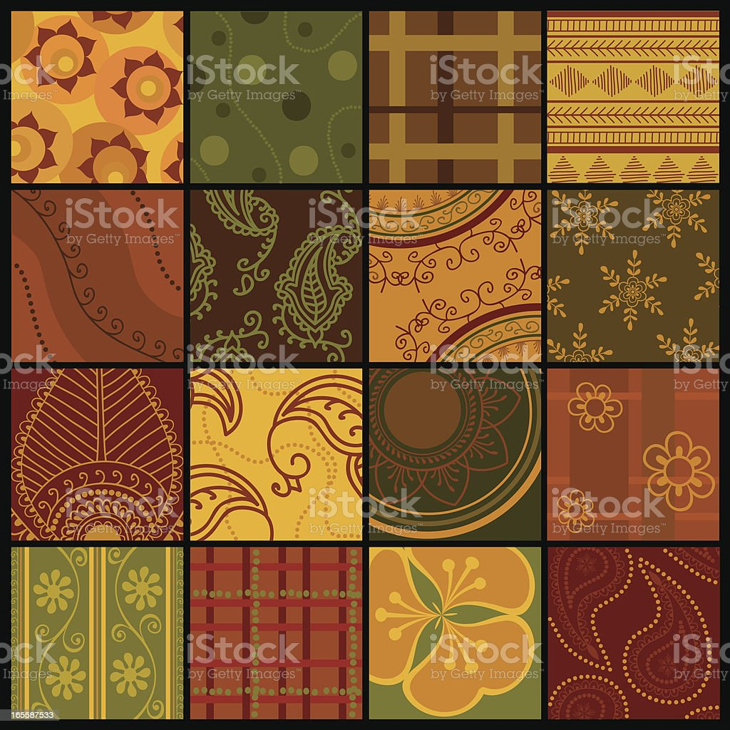 Quilt Squares (Vector) royalty-free stock vector art