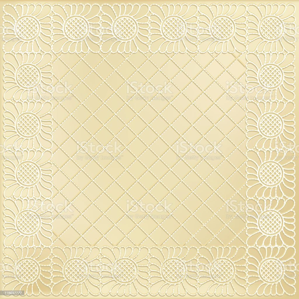 Quilted Grid & Feather Patterns vector art illustration