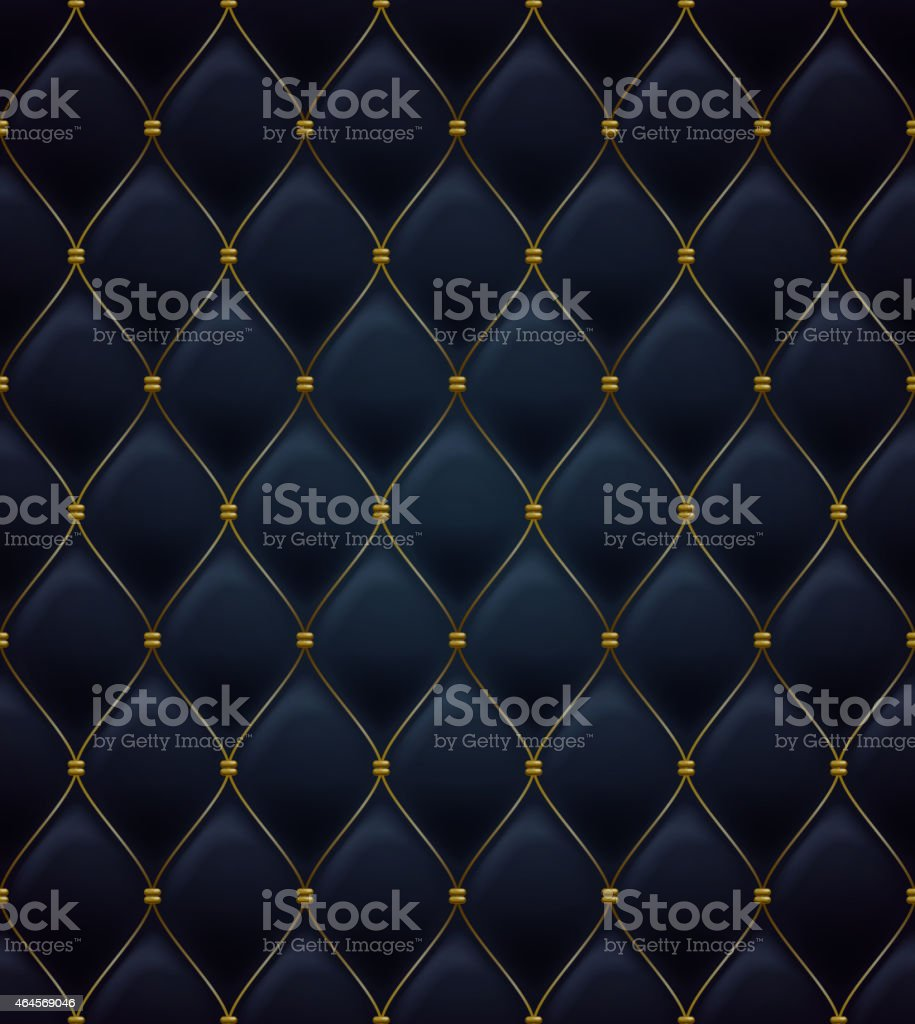 Quilted seamless pattern. Black color. vector art illustration