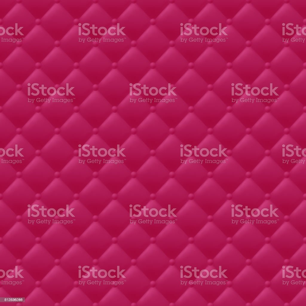 Quilted simple seamless pattern. Red color vector art illustration