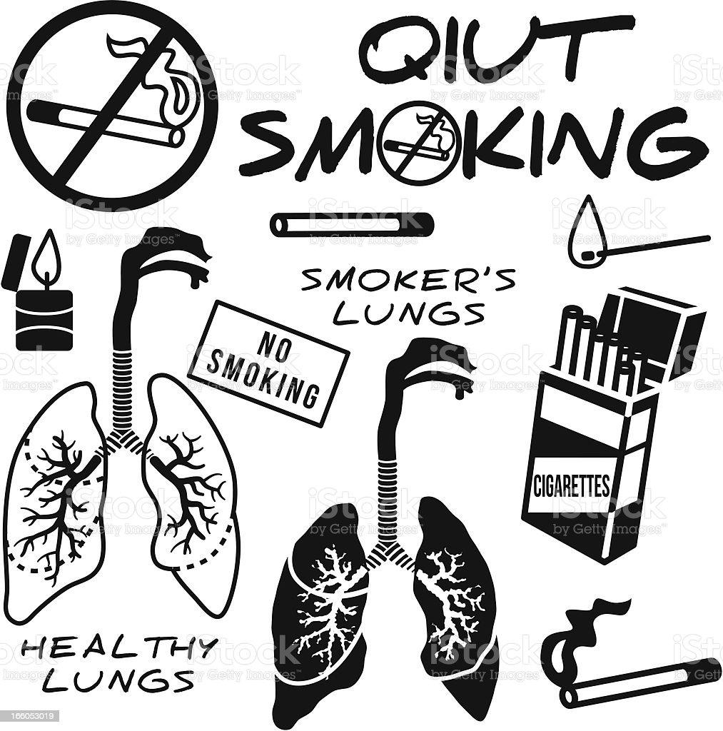 quit smoking design elements royalty-free stock vector art