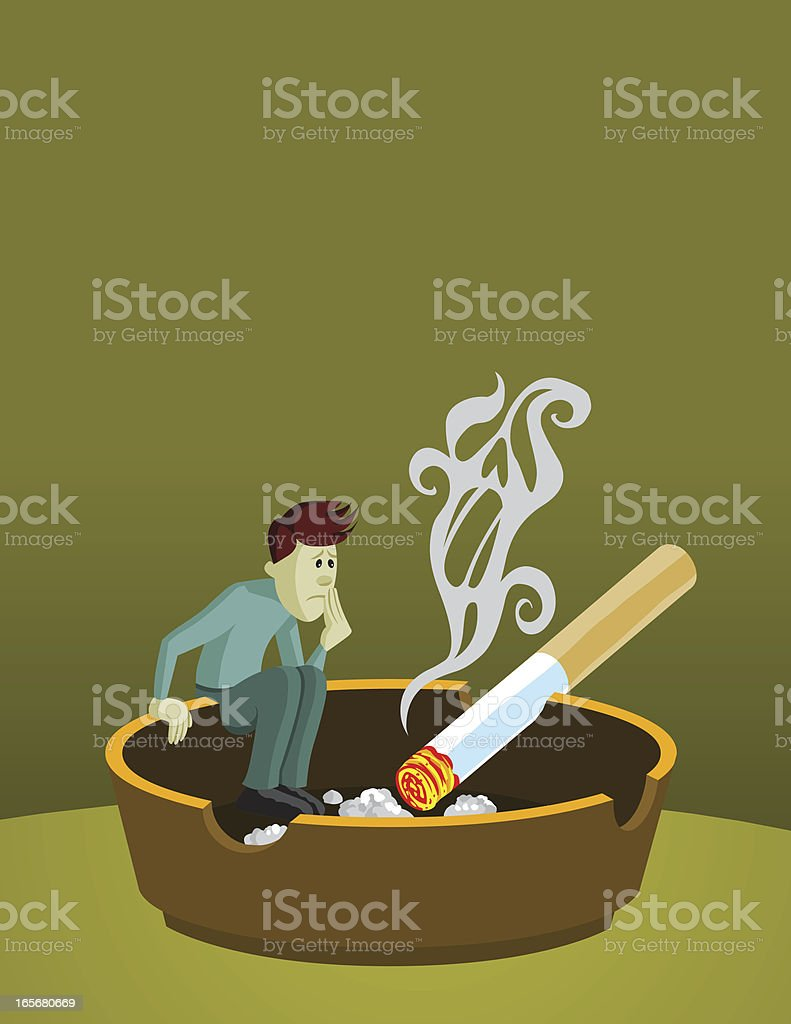 Quit Smoking vector art illustration