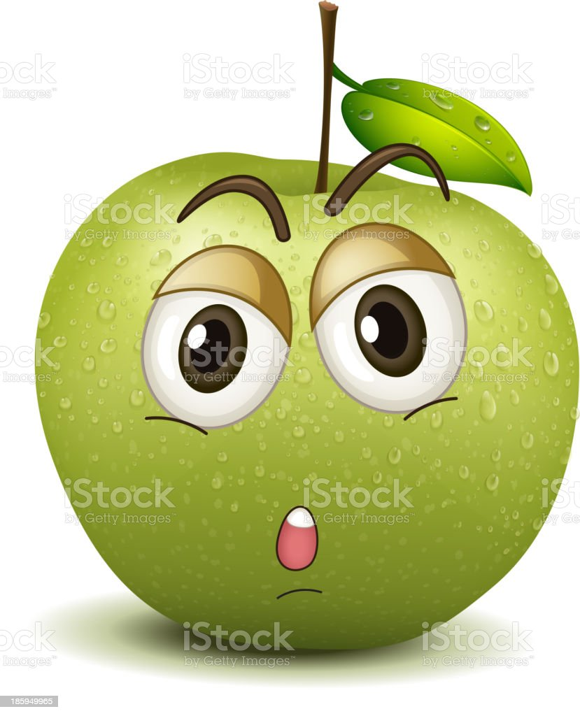 quite apple smiley royalty-free stock vector art