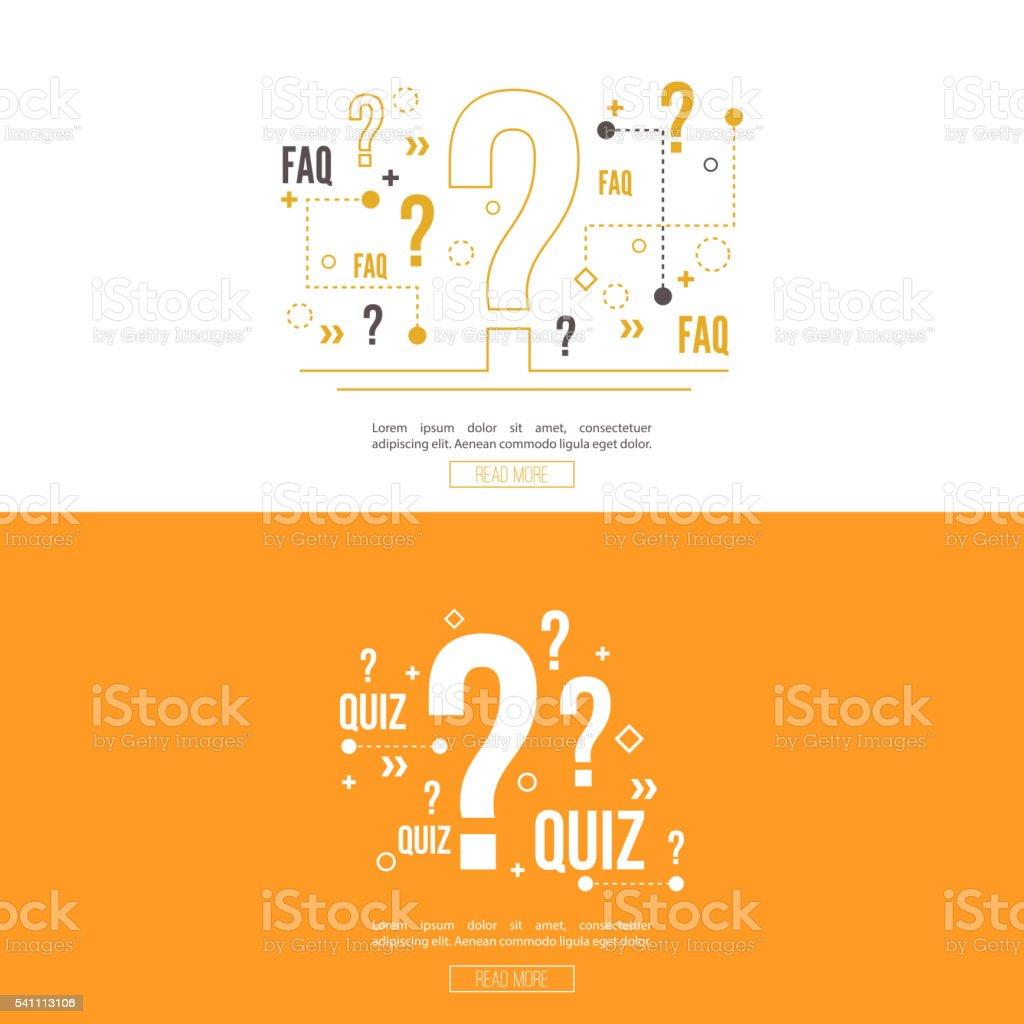 Quiz background vector. vector art illustration