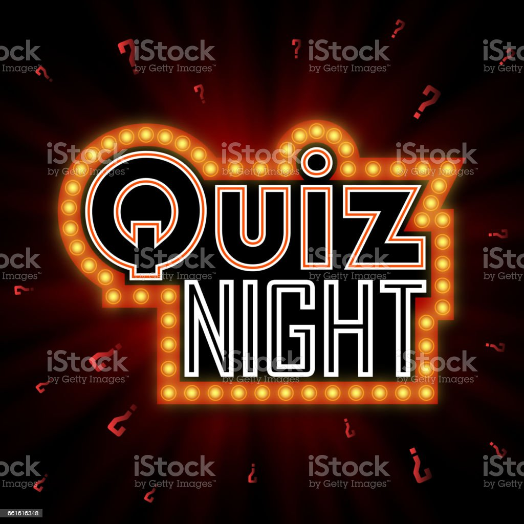 Poster design questions - Quiz Night Announcement Poster Design Web Banner Background Vector Illustration Pub Quiz Held In A