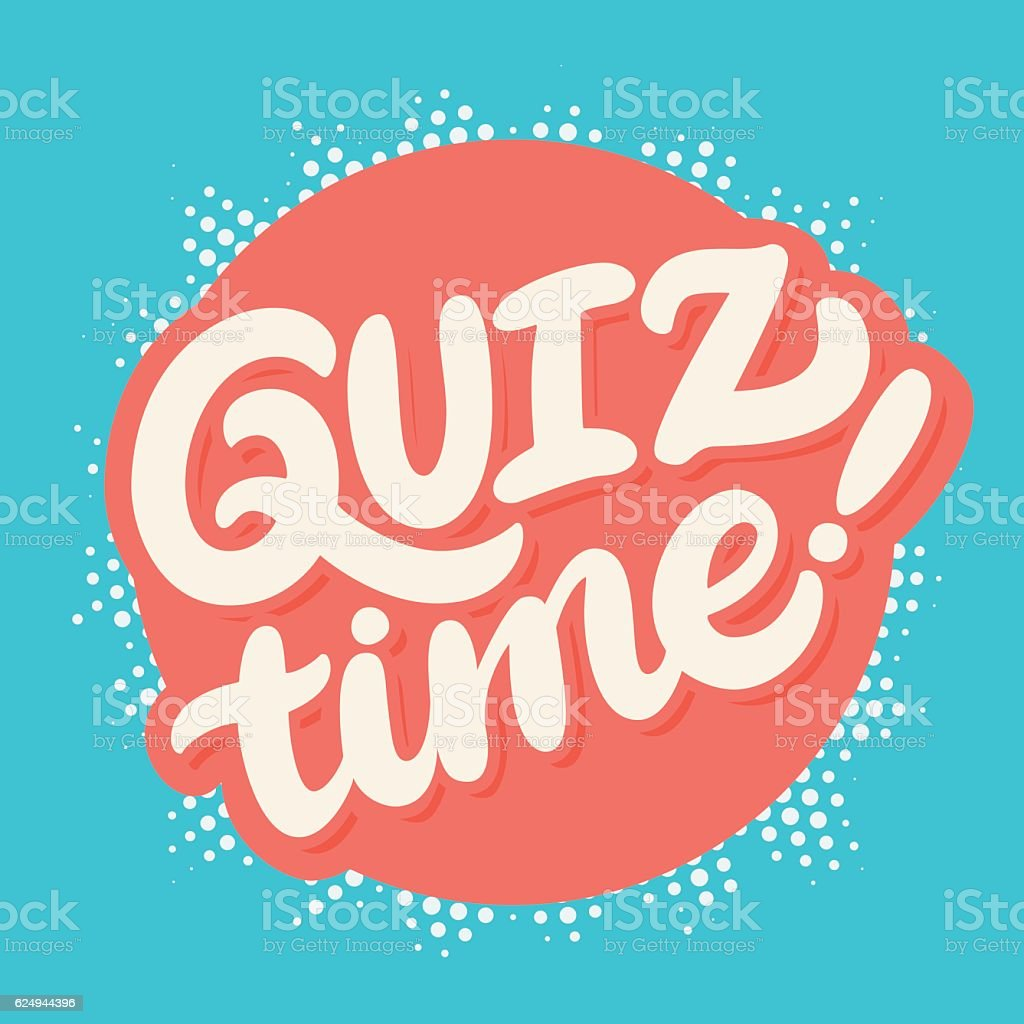 Quiz time banner. vector art illustration