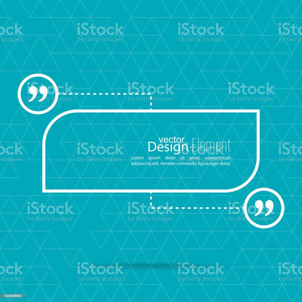 Quotation Mark Speech Bubble. vector art illustration