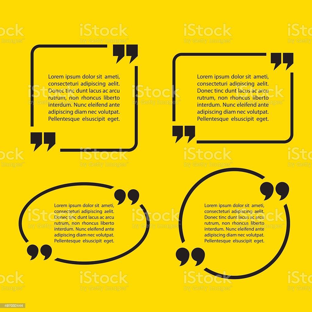 Quotation Mark Speech Bubbles. vector art illustration