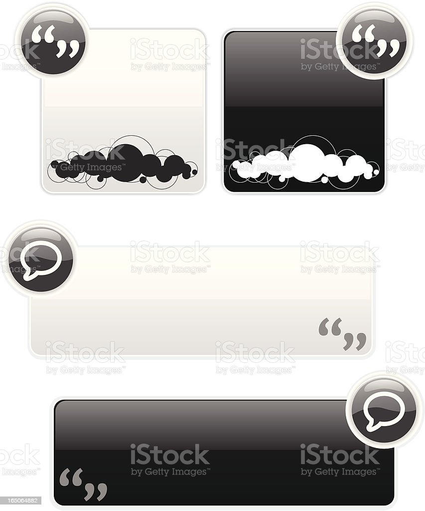 quote banners and blurbs royalty-free stock vector art