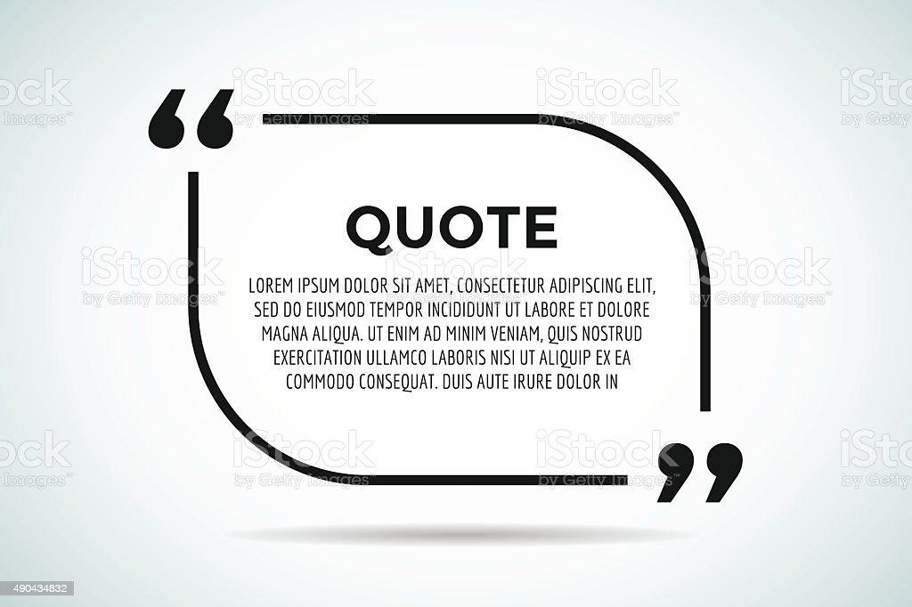 Quote blank template bubble empty design vector art illustration