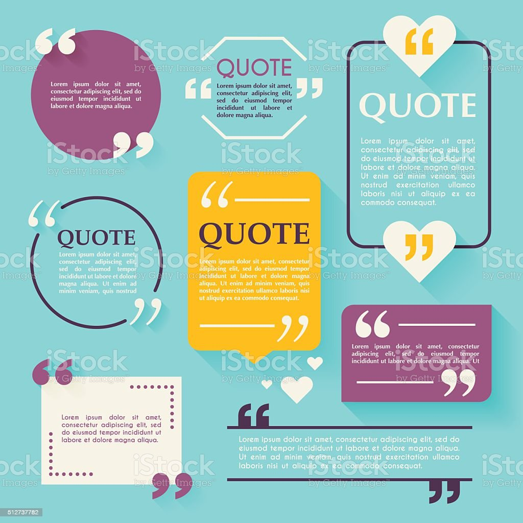 Quote blank template. Design elements, circle business card temp vector art illustration